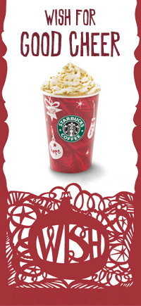 Photos courtesy of Starbucks... I don't have my card reader @ work.